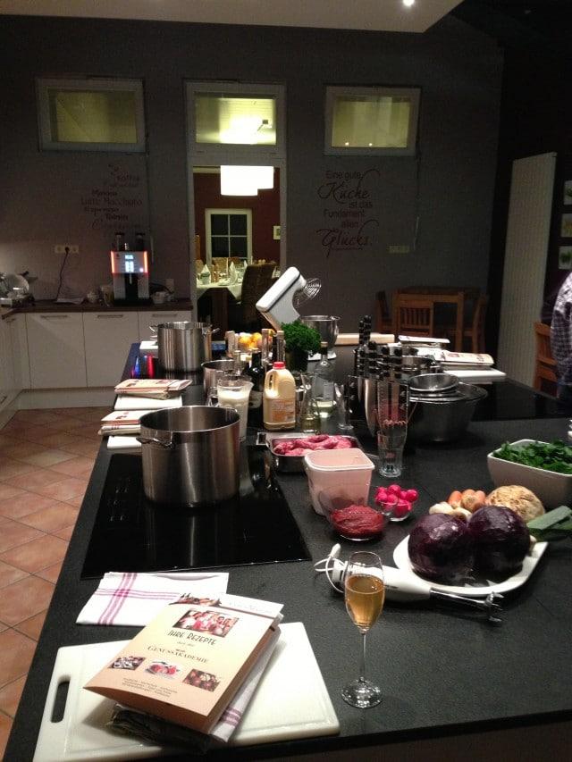 kleiner Einblick in die Küche der Genussakademie