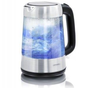 Arendo-Edelstahl-Glas-Wasserkocher